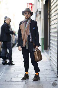 Takahiro Miyashita in TAKAHIROMIYASHITATheSoloIst fw12 outfit