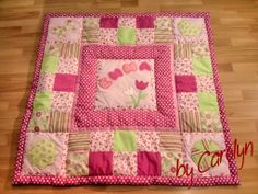Patchwork - Quilt: Baby blanket for my grandchild // by Carolyn