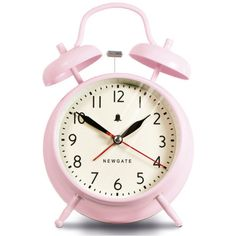 Newgate New Covent Garden Clock - Dreamy Pink (396.055 IDR) ❤ liked on Polyvore featuring home, home decor, clocks, fillers, decor, accessories, battery powered alarm clock, pink clock, newgate and battery powered clock