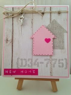 Cards 2 love: New home. Cool Cards, Diy Cards, New Home Cards, Paint Colors For Living Room, Marianne Design, Diy Box, Card Tags, Paper Cards, Stamping Up