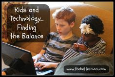Finding a balance at home with technology is so tricky! This article has great insight on the good and the bad sides of technology and how to balance it all!