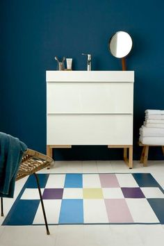 Bathroom - 'Hicks Blue', 'Shirting', 'Purpleheart', 'Tivoli', 'Narcissus' & 'Debutant'