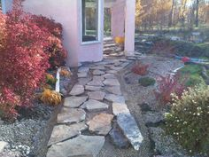 Although this walkway is still under construction, you can visualize the finished look with the beautiful fall colours and light.