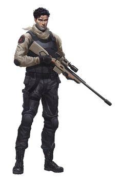 Sniper by alessandro-poli on DeviantArt Post Apocalypse, Apocalypse Survivor, Character Concept, Character Art, Concept Art, Character Design, Star Wars Characters, Fantasy Characters, Gangsters