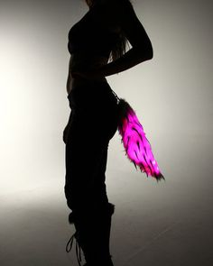 Color Changing Black Spike Light Up Fur by ElectricStyles on Etsy, $34.97