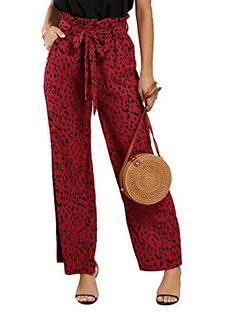 Coolred-Women Flare Stitch Long Pants Trim-Fit Lounge Regular Harem Pants