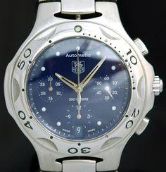 TAG HEUER Kirium Chronograph Automatic Watch BLUE Diver CL2111 37J Calibre 17 #tagheuer #chronograph