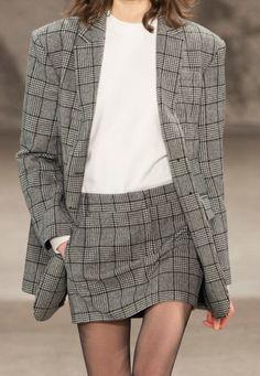 2 piece skirt suit grey check t shirt immabillius:TIBI FW17 | https://www.instagram.com/immabillius/