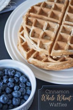 Start your day off right with these healthy cinnamon whole wheat waffles. Perfect for brunch, breakfast, or breakfast for dinner! #waffles #wholewheat #cinnamon #breakfast #brunch Make Ahead Breakfast Casserole, Easy To Make Breakfast, Sweet Breakfast, Breakfast For Dinner, Breakfast Dishes, Breakfast Ideas, Waffle Recipes, Brunch Recipes, Sweet Recipes