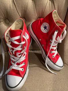 converse high tops womens 6 on Mercari Converse Fashion, Converse Style, Converse High, Sneakers Fashion, Chuck Taylor Sneakers, High Tops, Vans, Colour, Facebook