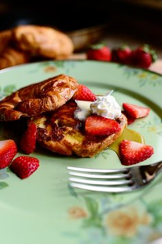 Croissant French Toast. So light, crispy, and magical. You'll love it!
