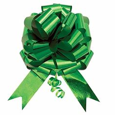 10 5 Metallic Green Pull Bow Pew Bows Wedding Decorations Christmas Gift Wrap -- You can find out more details at the link of the image.Note:It is affiliate link to Amazon.