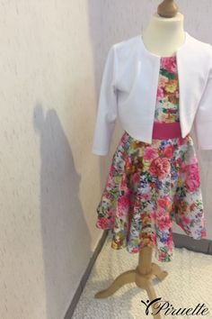 Rochia model floral cu bolero