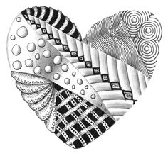 Images of Zentangle | Zentangle / Zentangle heart by Kay Flickr, via Flickr