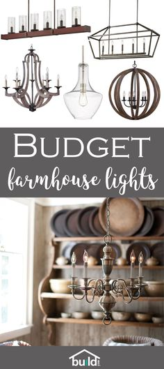 Dress up your home and rejuvenate your space with these budget friendly farmhouse lights
