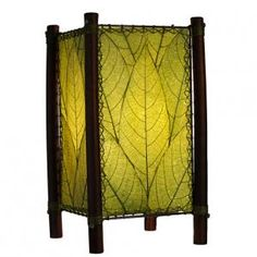 Eangee Home Design Fortune Green Fossilized Cocoa Leaf Floor Lamp Decoration The material Type is cocoa leaf; iron The Style Type is contemporary The country of origin is Philippines Width: Length: Height: Uses two 13 wat Green Table Lamp, Green Lamp, Table Lamps, Neverland Nursery, Bamboo Poles, Bamboo Shades, Lamp Shade Store, Leaf Table, Green Accents