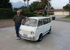 "This is my 1970 Subaru 360 Van. Some call it a Subaru Bus. Later years were called Sambar. This is a Japanese ""Kei"" class vehicle. Weird Cars, Cool Cars, Cute Vans, Kei Car, Microcar, Vintage Vans, Mini Trucks, Unique Cars, Vw T1"