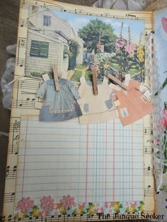 My last post showed half of the pages in my book from Karla's Nature's Blessings Journal Swap. Journal Paper, Junk Journal, Garden Journal, Nature Journal, Journal Prompts, Art Journals, Book Crafts, Paper Crafts, Album Scrapbook