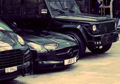 Porche Cayenne, Mercedes SLS, Mercedes G-Wagon...super sick!