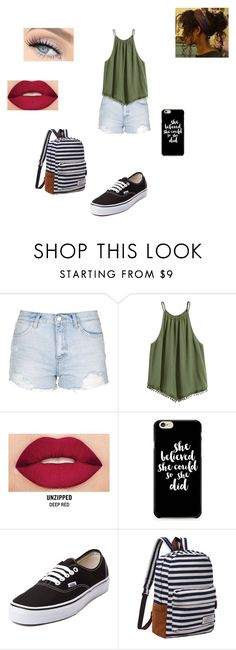"""Untitled #419"" by pufferfishgal on Polyvore featuring Topshop, Smashbox and Vans"