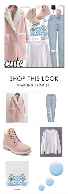 """""""Cute, Casual, Pastel Winter Style"""" by beebeely-look ❤ liked on Polyvore featuring Topshop, LYDC, Chanel, cute, casual, pastels, winterjacket and twinkledeals"""