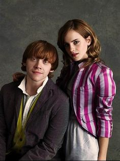 Ron and Hermione looks like it could be there portrait after getting married lol
