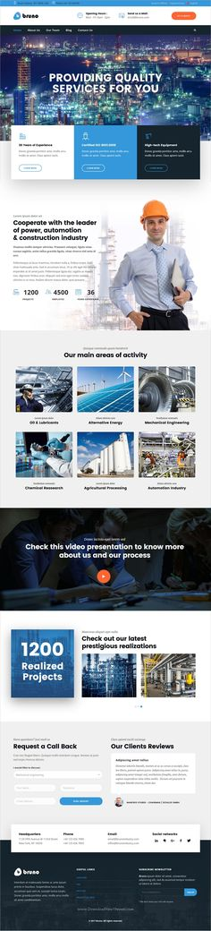 Bruno is clean and modern design multipurpose responsive #WordPress theme for stunning #industry #factory website with 9+ niche homepage layouts download now..
