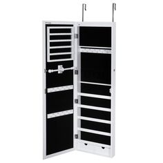 SONGMICS Mirrored Jewelry Cabinet with Stand Armoire Storage