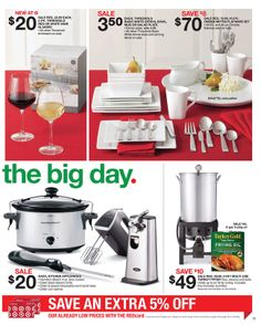 Target - Sale starts November 17, 2013 - November 23, 2013 Frying Oil, November 23, Cereal Bowls, Target, Kitchen Appliances, Plates, Cooking Utensils, Licence Plates, Home Appliances