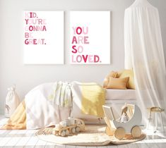 Nursery quote print Pink Nursery Decor Children's | Etsy Floral Nursery, Boho Nursery, Nursery Prints, Nursery Wall Art, Nursery Decor, Peach Nursery, Nursery Ideas, Whimsical Nursery, Initial Wall