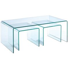 Lumeno Glass Rectangular Cocktail Table - $429.00 This coktail table doesn't take much visual space either!