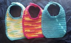 """Cutie Bib""-Free Crochet Pattern - I, Lynnette, just made one and it was soooo easy. I'm going to make another and try to personalize it a little more with some cute edging."