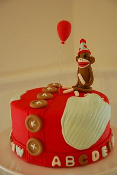 Sock Monkey Birthday Cake by Sweet Fix, via Flickr