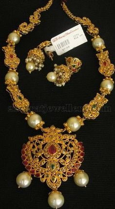 Jewellery Designs: South Sea Pearls Embellished Enchanting Set