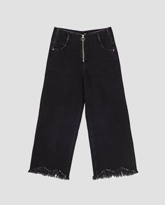 Image 8 of HIGH-RISE CULOTTE JEANS from Zara