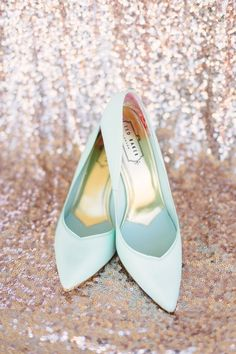 Mint Bridal Shoes | Shannon Moffit Photography on @fabyoubliss via @aislesociety
