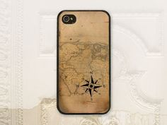 Compass cell phone case for iPhone 4 4s, 5 5s, and Galaxy S3 by LilStinkerDesign, $17.99+ (One of most popular designs for guys)