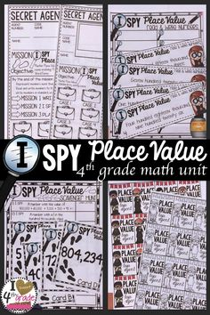 4th Grade Place Value Unit. Includes: math centers or games, worksheets, problem solving, expanded form, place value, multi representations.  Scoot Games & Scavenger Hunt.  Fun for starting the year in 4th grade Math!