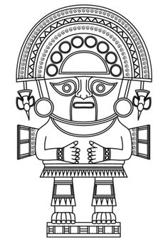 Naymlap God King coloring page from Inca Art category. Select from 25123 printable crafts of cartoons, nature, animals, Bible and many more.