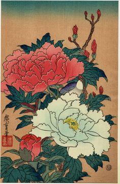 Japanese Ukiyo-e Woodblock print Hiroshige by UkiyoeCosmosPlus