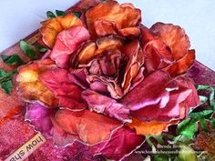 How to Make This Gorgeous Flower Shabby Chic Flowers, Faux Flowers, Love Flowers, Diy Flowers, Fabric Flowers, Diy Paper, Paper Crafts, Tissue Paper Flowers, Newspaper Flowers