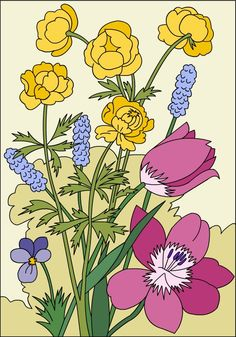 Nicole's Free Coloring Pages: FLOWERS * Coloring page