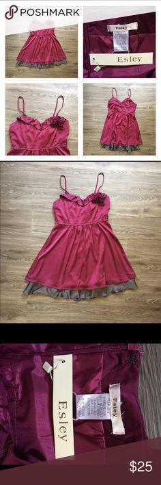 SALE Esley Dress Fun maroon and grey dress. NWT.                         Bust, 36. Waist, 30. Length, 36. Esley Dresses Mini