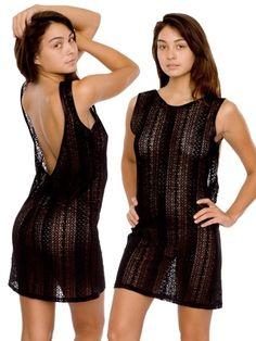 Zig Zag Lace Scoop Back Dress   Shop American Apparel - StyleSays