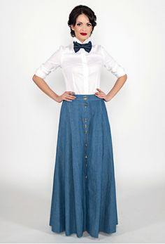 long jeans skirt #995nojeans #995fashion #jeansskirt #skirt #fashion #style #longskirt