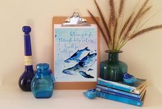 Bible Quote I will be with you Watercolour Print