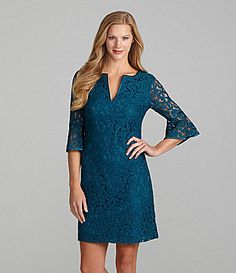 Adrianna Papell Lace BellSleeve Dress #Dillards
