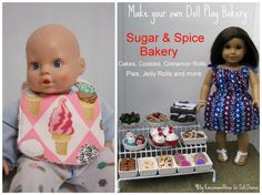 15 doll dress up clothes/accessories - tried the bib tutorial, had to get the pattern emailed to me bc I couldn't get the download to work other than that, worked great!