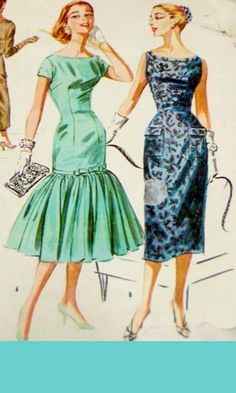 Timeless vintage dress pattern