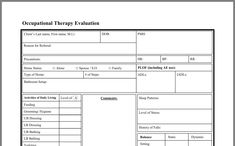 Evaluation Form, Occupational Therapy, First Names, Stress, Occupational Therapist, Psychological Stress